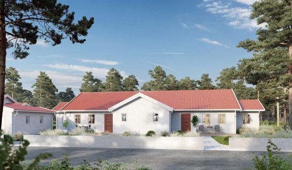 nybyggd villa
